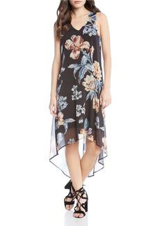 Karen Kane Botanical Print High/Low Dress