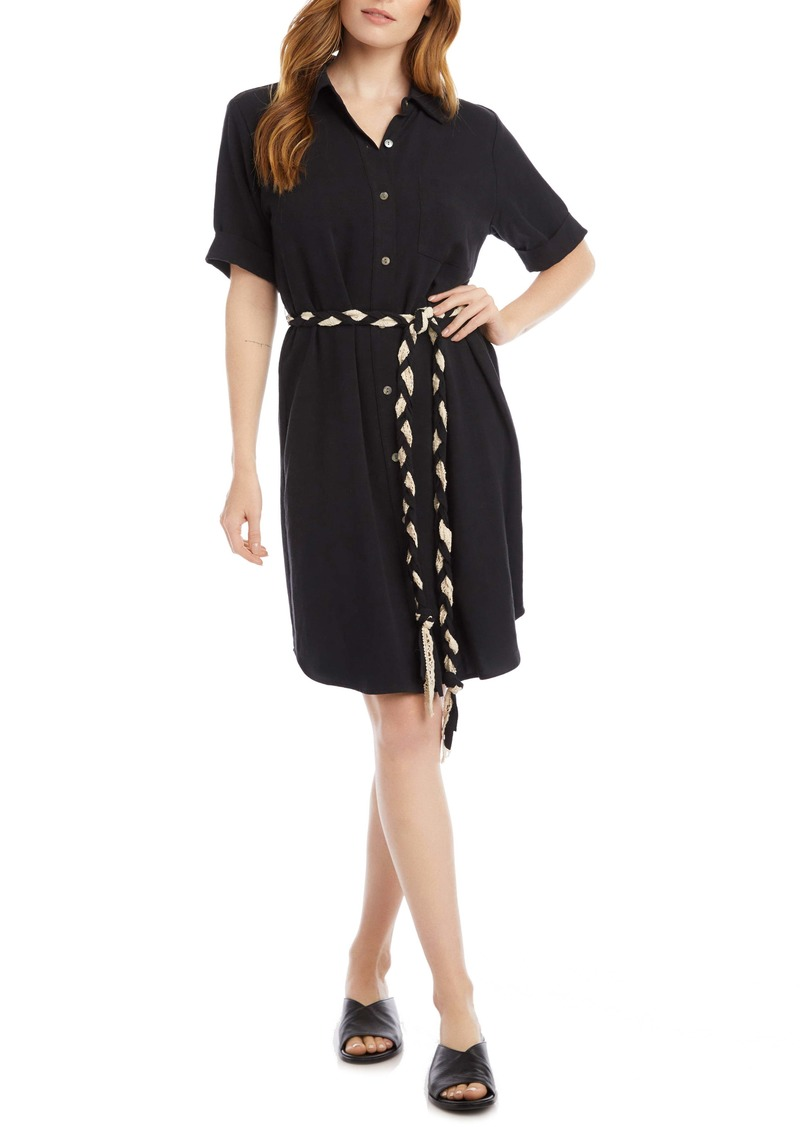 Karen Kane Braided Belt Shirtdress