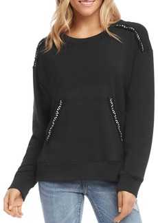 Karen Kane Braided-Trim Sweatshirt