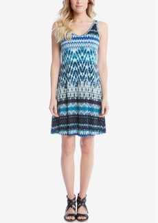 Karen Kane Brigitte Printed A-Line Dress