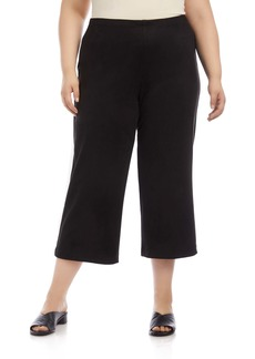 Karen Kane Brooklyn Faux Suede Crop Pants (Plus Size)