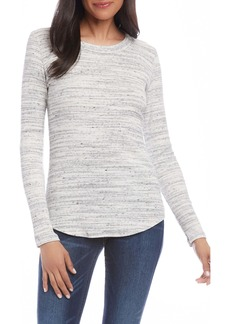 Karen Kane Brushed Ribbed Long Sleeve Top