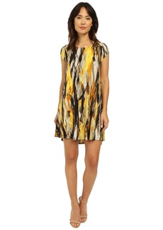 Karen Kane Brushed Yellow Maggie Trapeze Dress