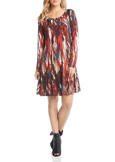 Karen Kane Brushstroke Print Knit Dress