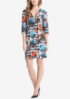 Karen Kane Brushstroke-Print Shift Dress