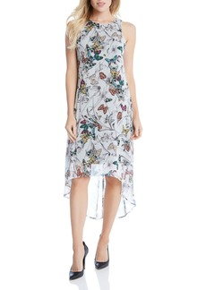 Karen Kane Butterfly Print High/Low Dress