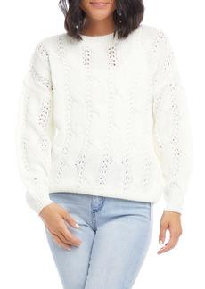 Karen Kane Cable Knit Sweater