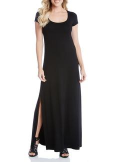 Karen Kane Cap Sleeve Jersey Maxi Dress