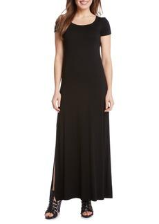 Karen Kane Cap Sleeve Jersey Maxi Dress (Petite)