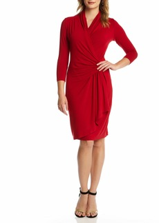 Karen Kane Cascade Faux Wrap Dress (Women)