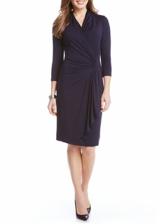 Karen Kane Cascade Faux Wrap Dress