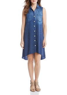 Karen Kane Chambray Stripe Shirt Dress - 100% Exclusive