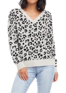 Karen Kane Cheetah Jacquard Sweater