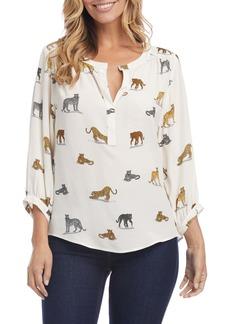 Karen Kane Cheetah Print Blouse