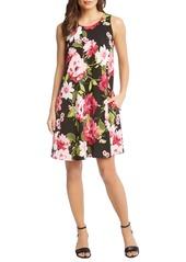 Karen Kane Chloe Floral Print Trapeze Dress