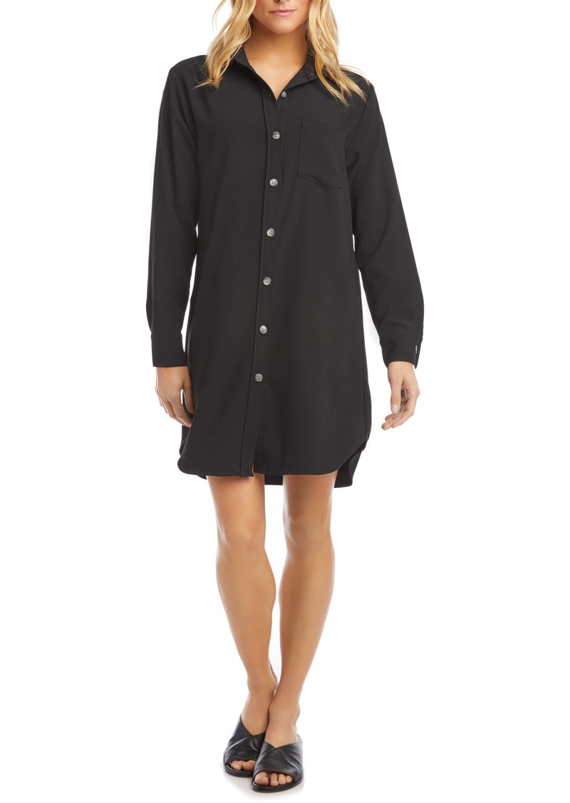 Karen Kane Classic Long Sleeve Shirtdress