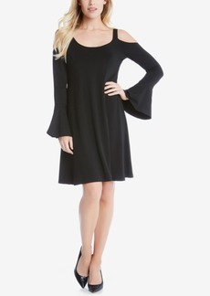 Karen Kane Cold-Shoulder Bell-Sleeve Shift Dress