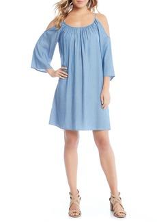 Karen Kane Cold Shoulder Chambray Dress