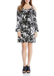 Karen Kane Cold Shoulder Flare Sleeve Dress
