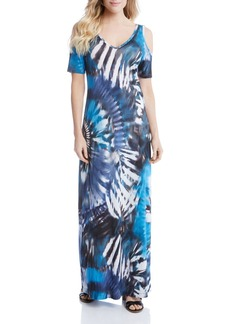 Karen Kane Cold Shoulder Maxi Dress