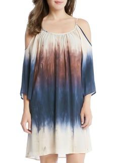 Karen Kane Cold-Shoulder Ombr� Dress