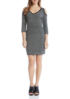 Karen Kane Cold Shoulder Stripe Dress