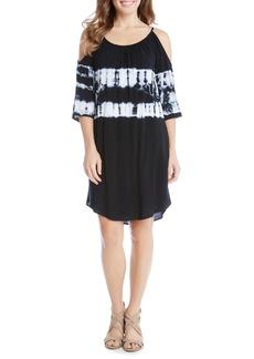 Karen Kane Cold Shoulder Tie-Dye Dress