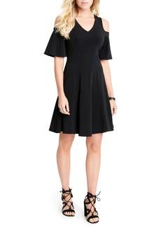 Karen Kane Cold Shoulder Travel Dress (Regular & Petite)