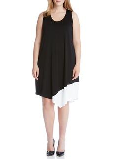 Karen Kane Colorblock Asymmetrical Tank Dress (Plus Size)