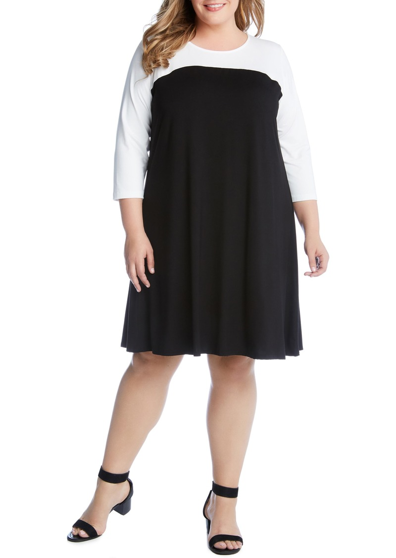 Karen Kane Karen Kane Colorblock Dress (Plus Size) | Dresses