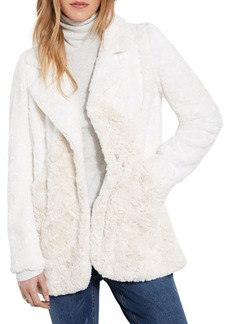 Karen Kane Colorblock Faux Fur Jacket