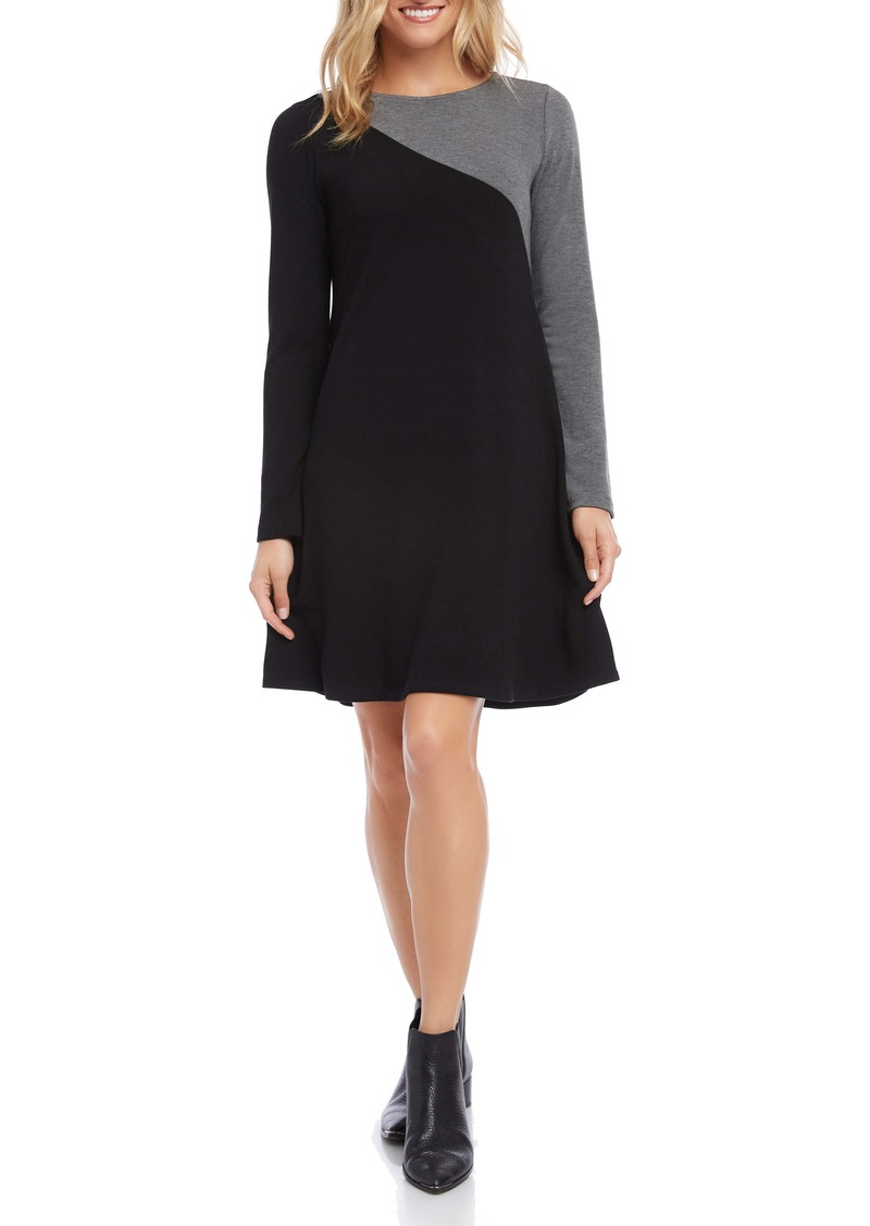Karen Kane Colorblock Long Sleeve Sweater Dress
