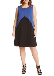 Karen Kane Colorblock Shift Dress (Plus Size)