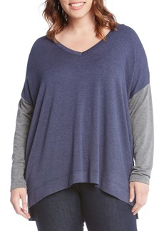 Karen Kane Colorblock Top (Plus Size)