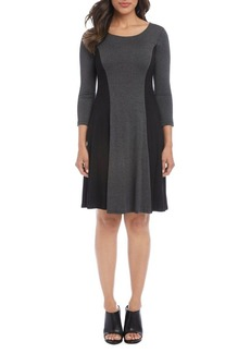 Karen Kane Colorblocked A-Line Dress