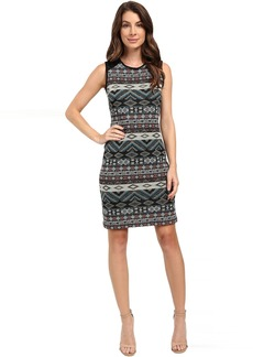 Karen Kane Contrast Jacquard Dress