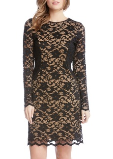 Karen Kane Contrast Side Lace Sheath Dress