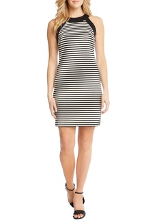 Karen Kane Contrast Small Stripe Body-Con Dress