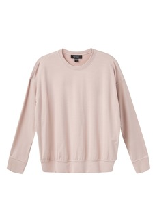 Karen Kane Contrast Stitch French Terry Pullover