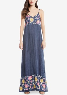 Karen Kane Cotton Embroidered Maxi Dress