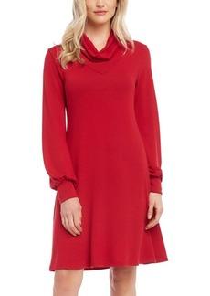 Karen Kane Cowlneck Sweater Dress