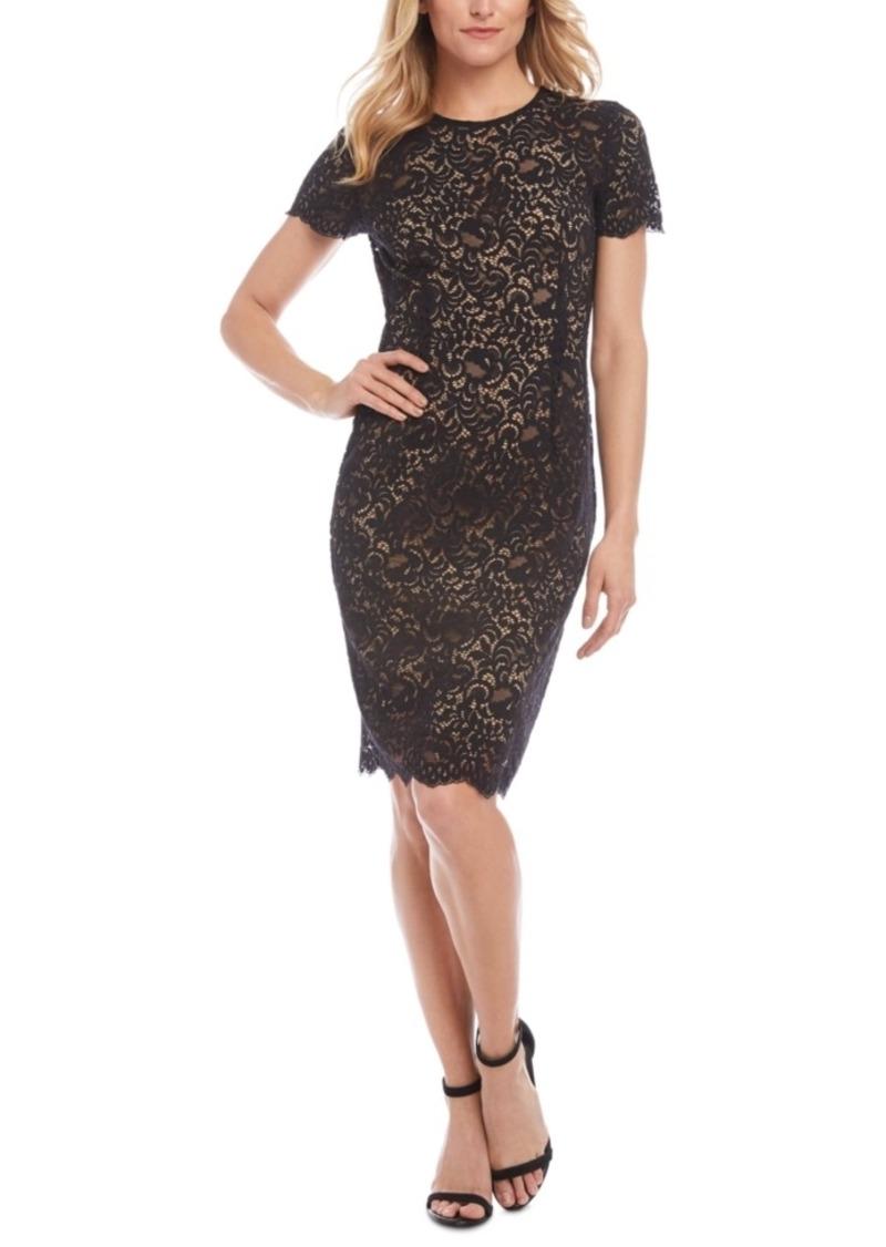 Karen Kane Crewneck Lace Sheath Dress