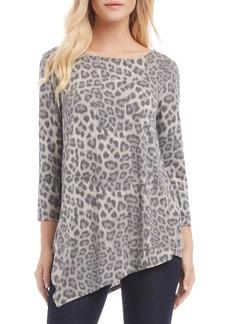 Karen Kane Criss-Cross Back Leopard Jersey Top