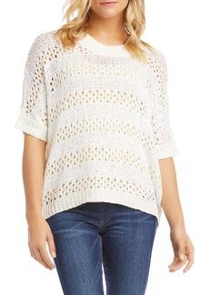 Karen Kane Crochet Short Sleeve Sweater