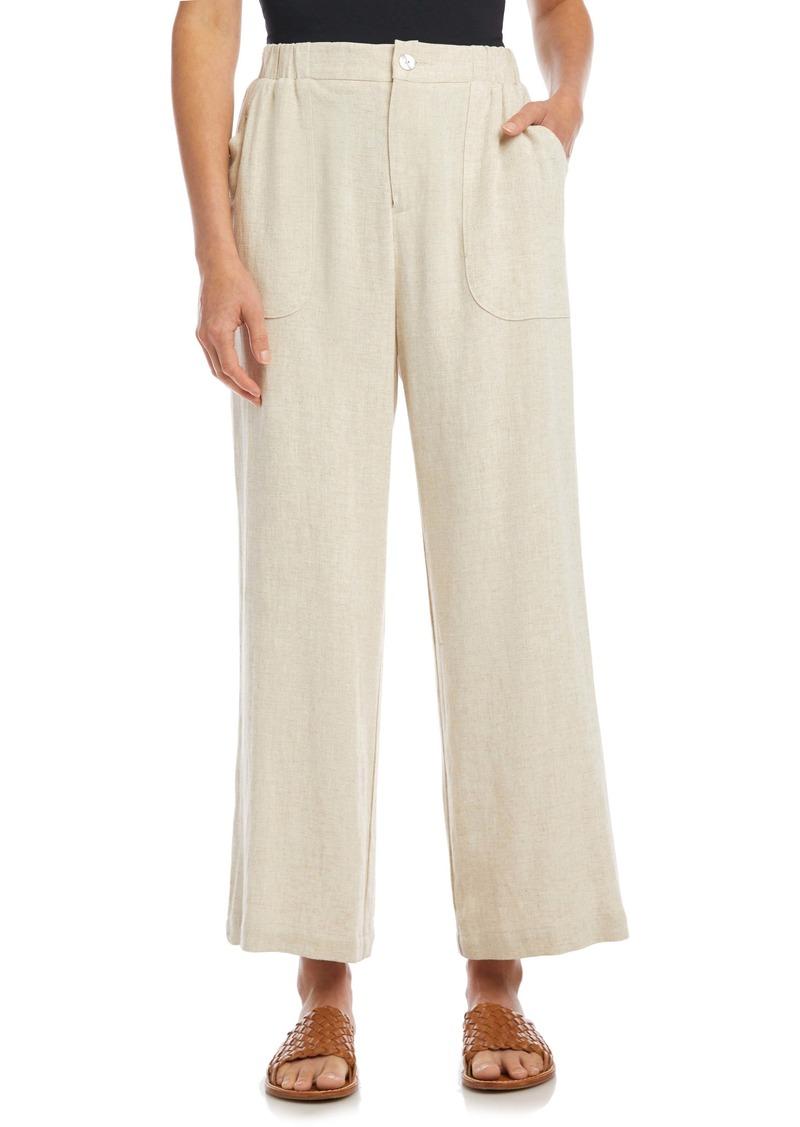 Karen Kane Crop Wide Leg Trousers