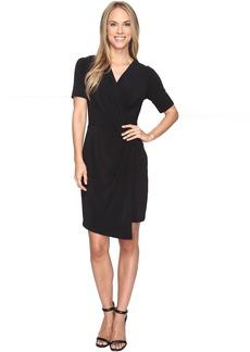 Karen Kane Crossover Drape Dress
