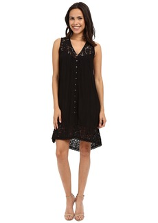 Karen Kane Crushed Lace Inset Dress