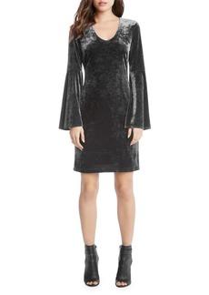 Karen Kane Crushed Velvet Bell-Sleeve Sheath Dress