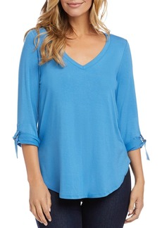Karen Kane Cuffable-Sleeve Top