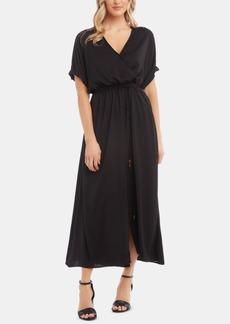 Karen Kane Cuffed-Sleeve Maxi Dress